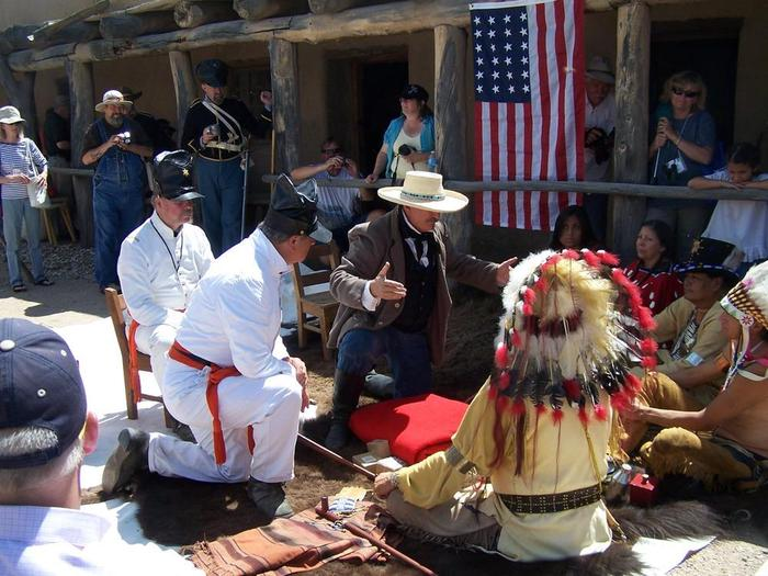 Living History Event Featuring Council Between the Army and the CheyenneSpecial events feature documented happenings of the 1840s. See the park calendar for a listing of special events.