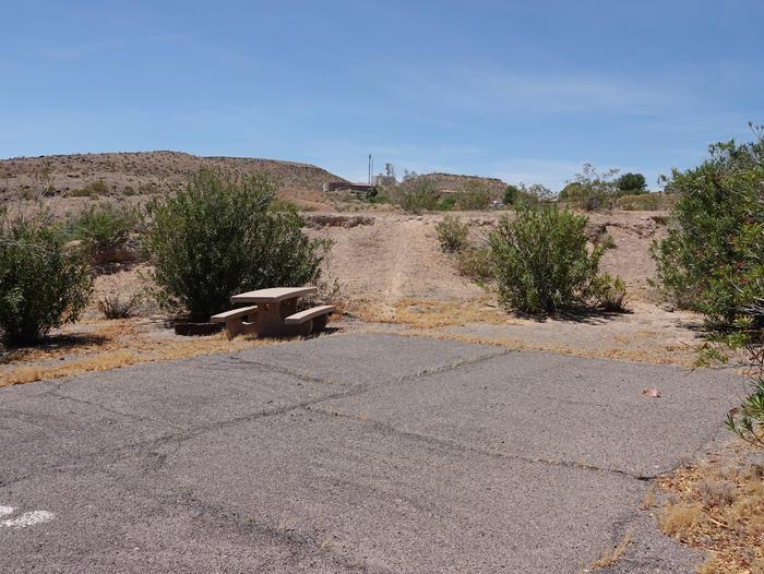 Campsite located in a desert settingCallville Bay Campground Site 18