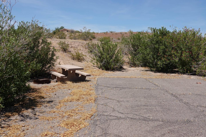 Campsite located in a desert setting1Callville Bay Campground Site 18