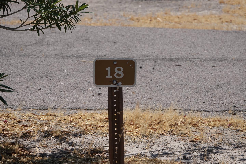 Campsite located in a desert setting2Callville Bay Campground Site 18