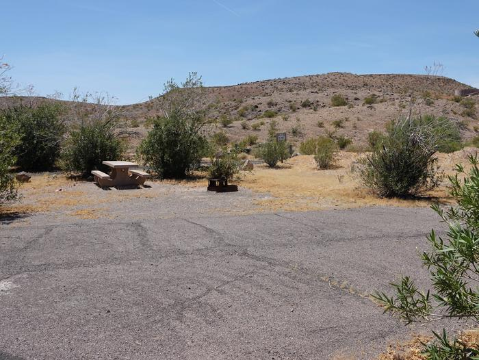 Campsite located in a desert settingCallville Bay Campground Site 20