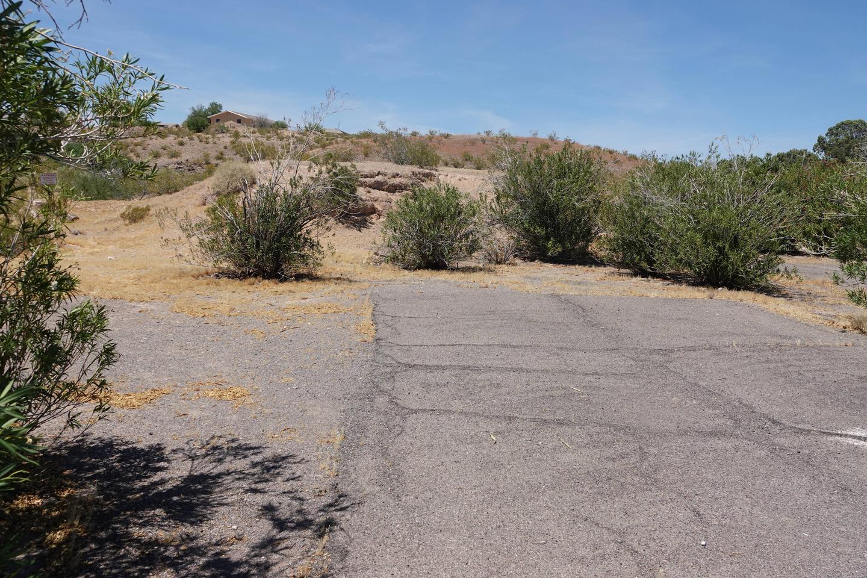Campsite located in a desert setting1Callville Bay Campground Site 20