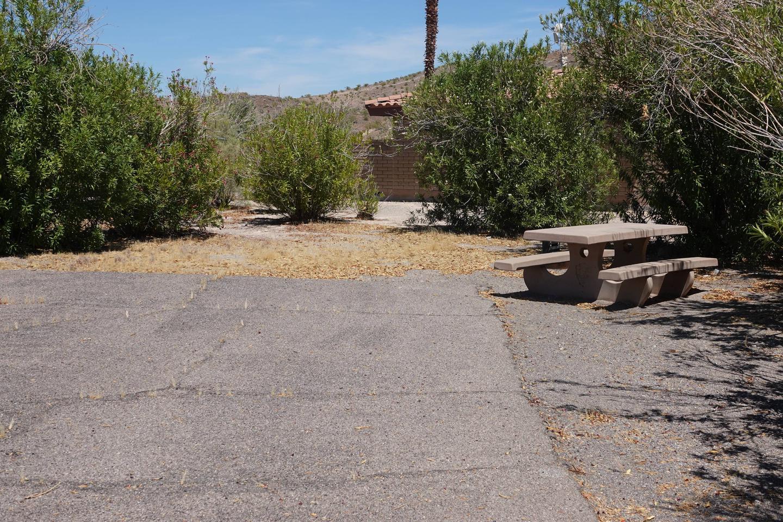 Campsite located in a desert setting1Callville Bay Campground Site 22