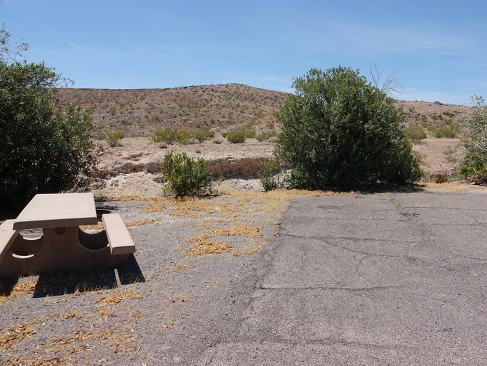 Campsite located in a desert settingCallville Bay Campground Site 27