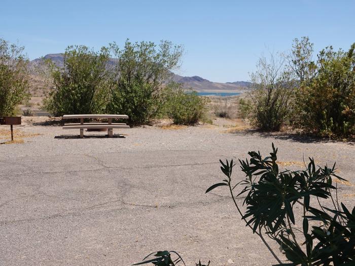 Campsite located in a desert settingCallville Bay Campground Site 29