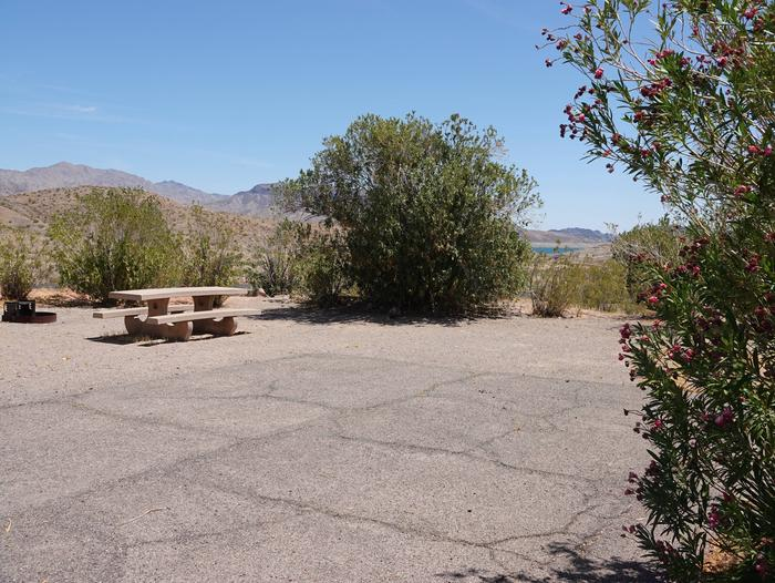 Campsite located in a desert settingCallville Bay Campground Site 30