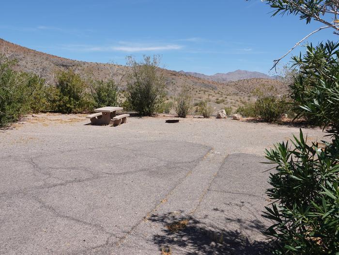 Campsite located in a desert settingCallville Bay Campground Site 31