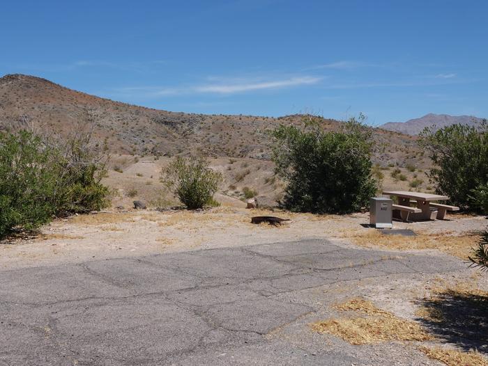 Campsite located in a desert settingCallville Bay Campground Site 35