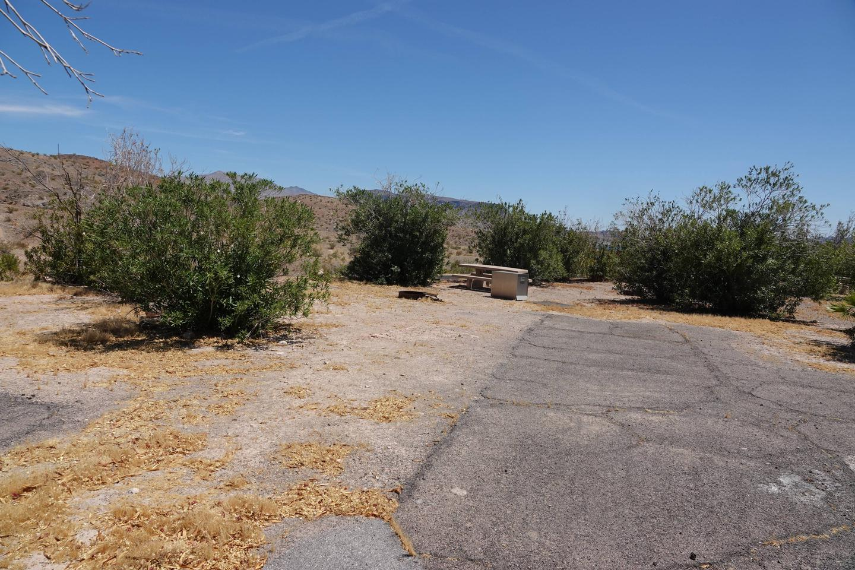 Campsite located in a desert setting1Callville Bay Campground Site 35