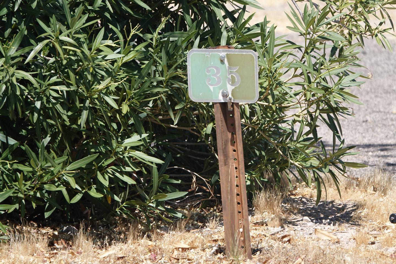 Campsite located in a desert setting2Callville Bay Campground Site 35