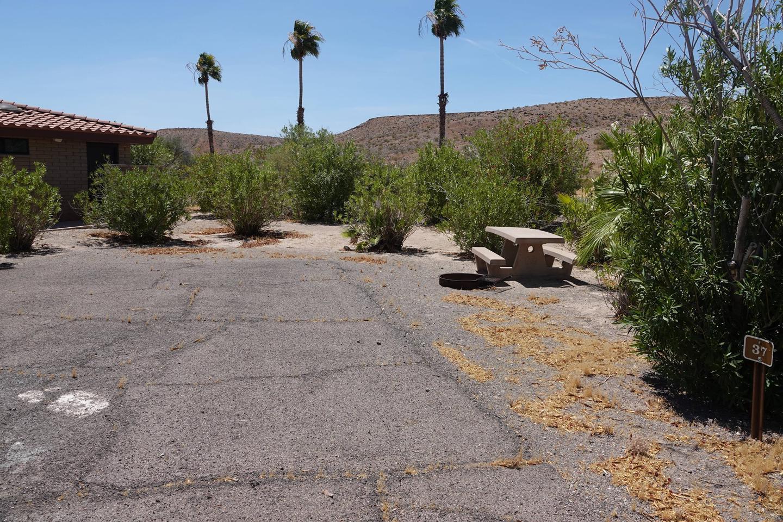 Campsite located in a desert setting1Callville Bay Campground Site 37