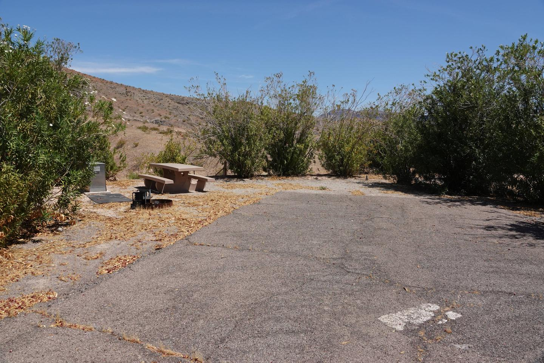 Campsite located in a desert setting2Callville Bay Campground Site 44