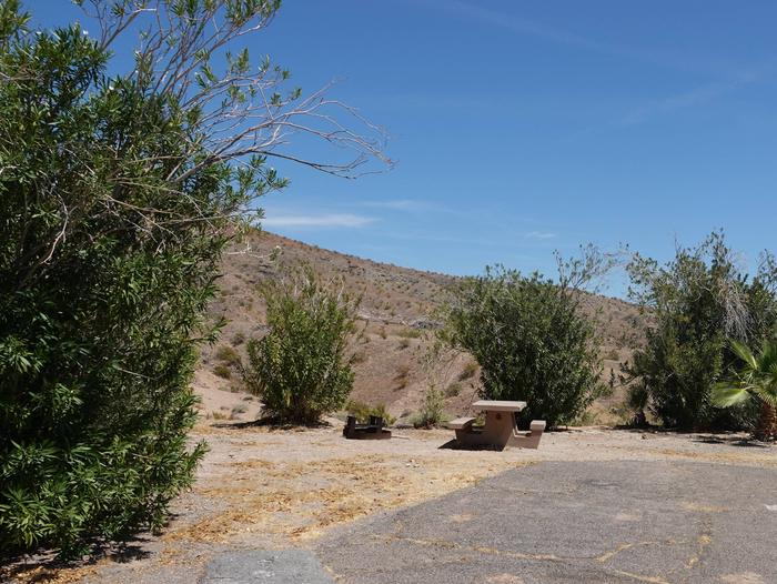 Campsite located in a desert settingCallville Bay Campground Site 45