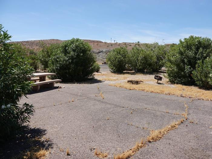 Campsite located in a desert settingCallville Bay Campground Site 47