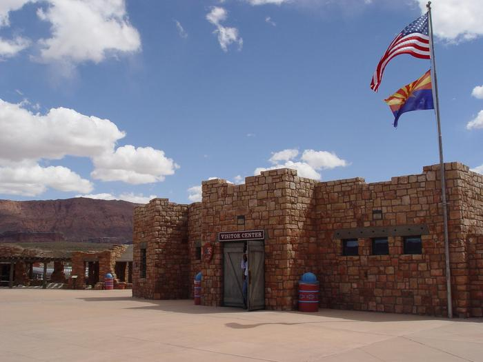 Navajo Bridge Interpretive Center entryStop at the Navajo Bridge Interpretive Center to find out more about the historic and modern bridges.
