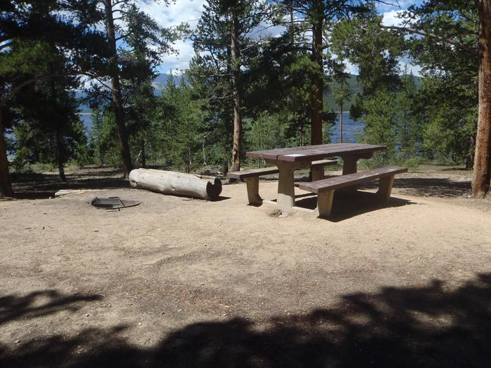 Baby Doe Campground, Site 13 picnic table and fire ring