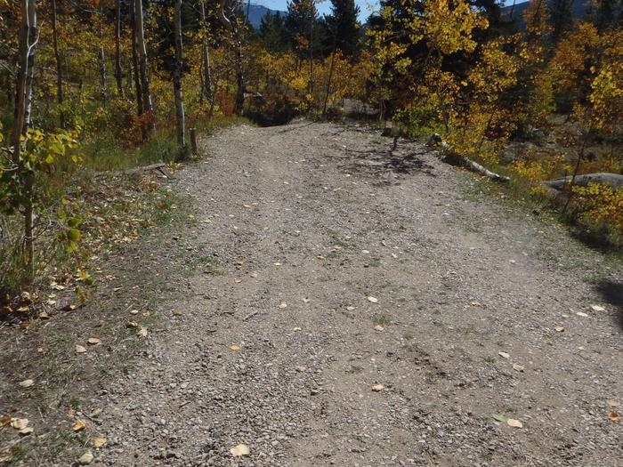 Lakeview Campground, site D2 parking 2