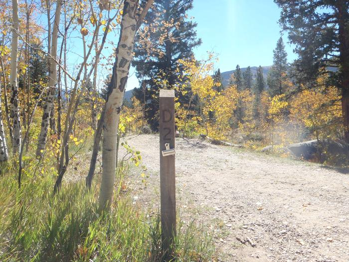 Lakeview Campground, site D2 marker