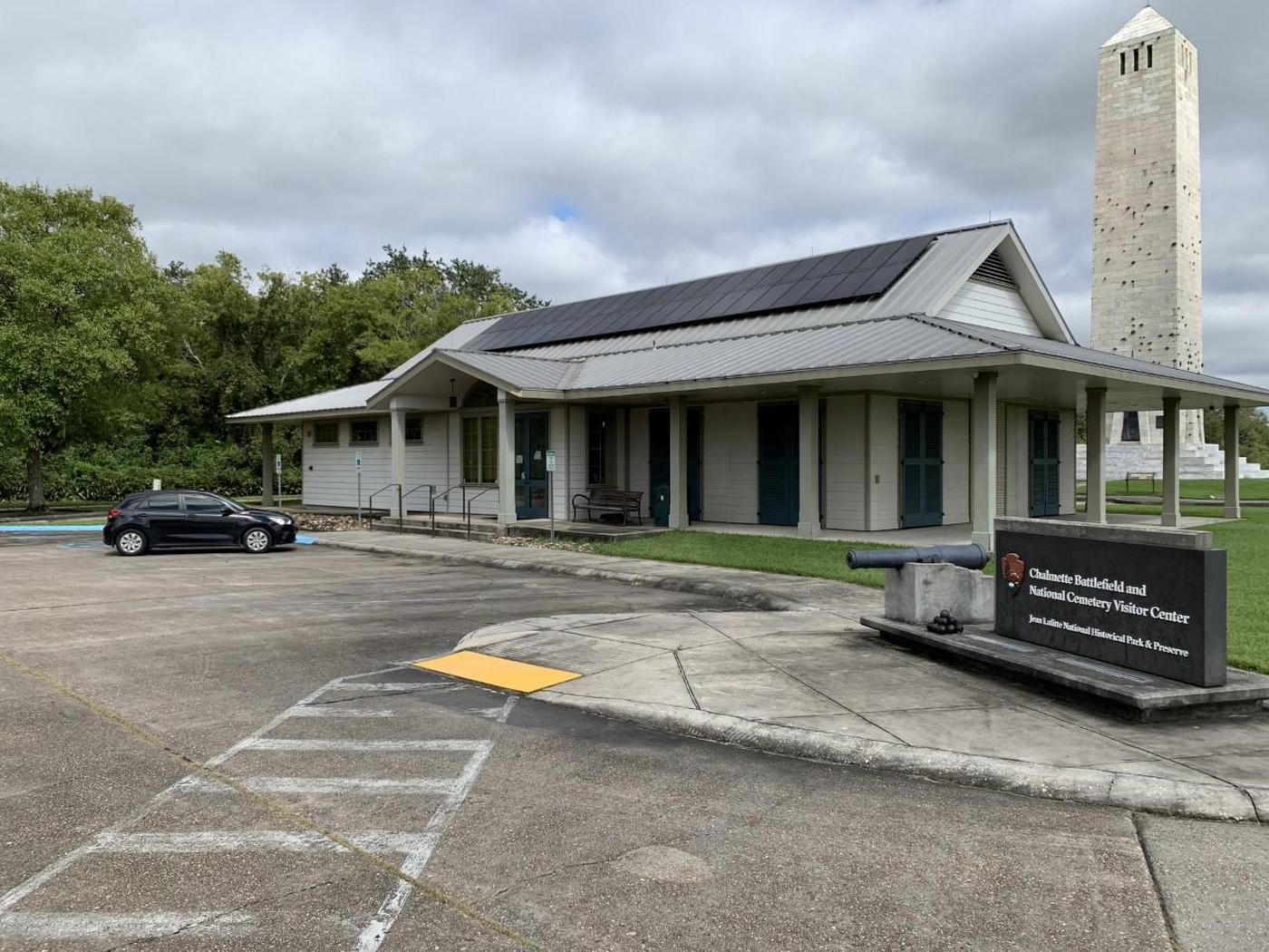 Chalmette Visitor CenterThe Visitor Center offers exhibits, films, and information on talks and living history programs.