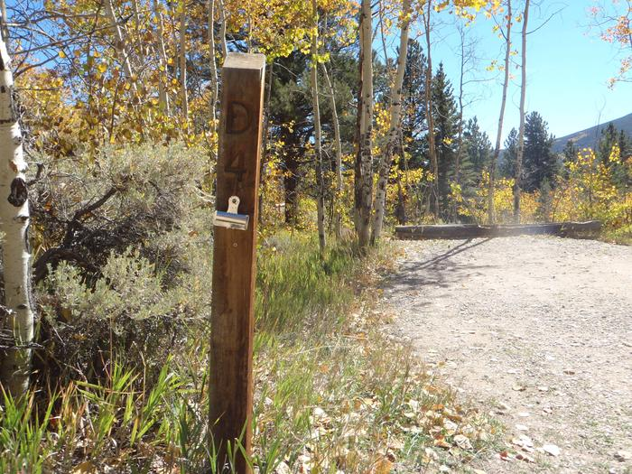 Lakeview Campground, site D4 marker