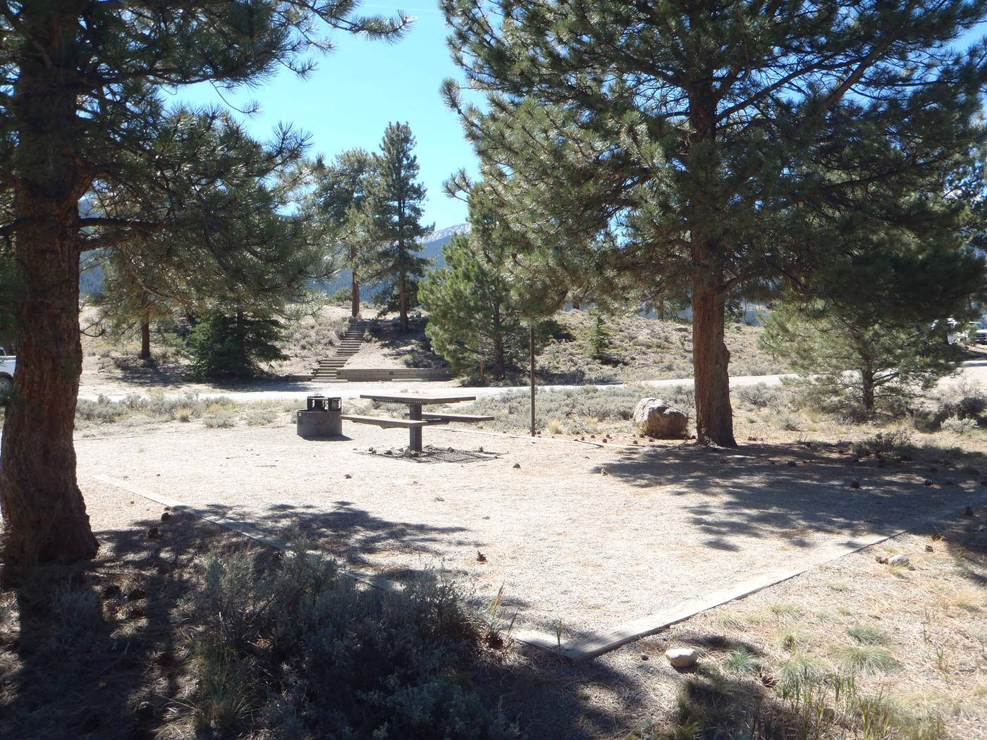 White Star Campground, site 13 picnic table and fire ring 2