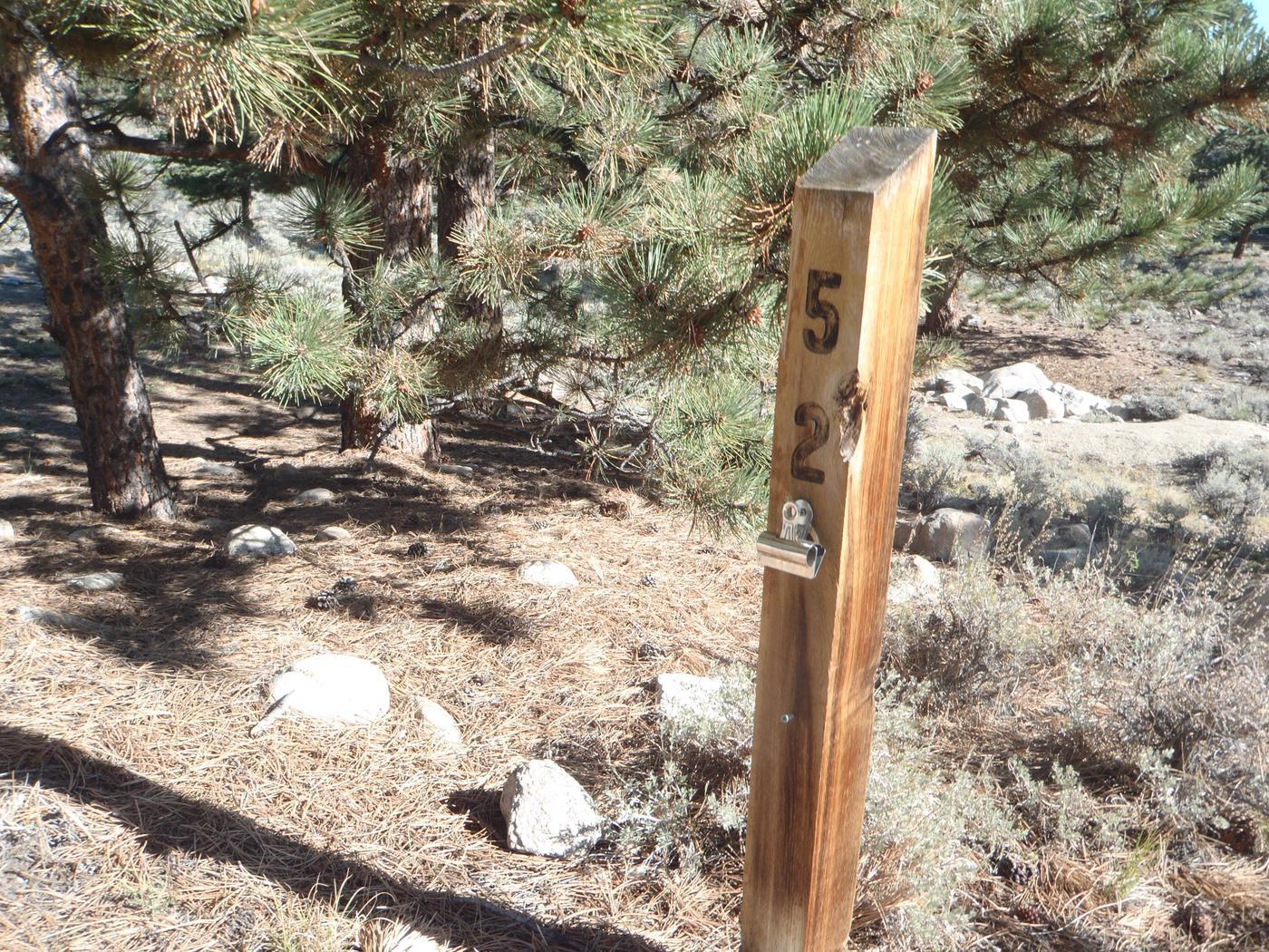 White Star Campground, site 52 marker 2