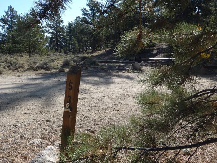 White Star Campground, site 53 marker 2