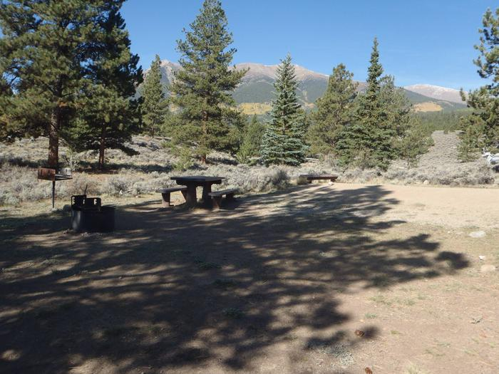 White Star Campground, site 55 view