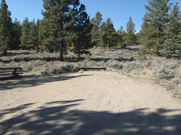 White Star Campground, site 55 parking