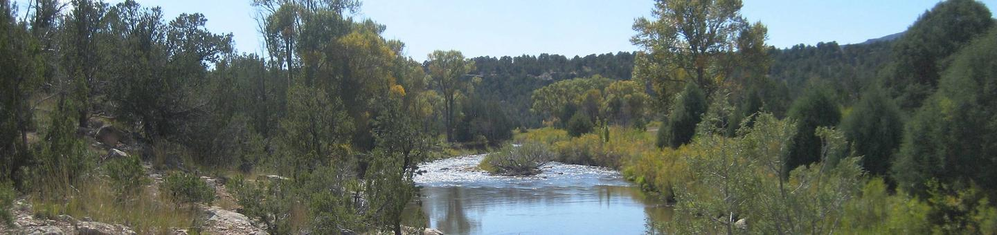 A placid day on the Pecos River.