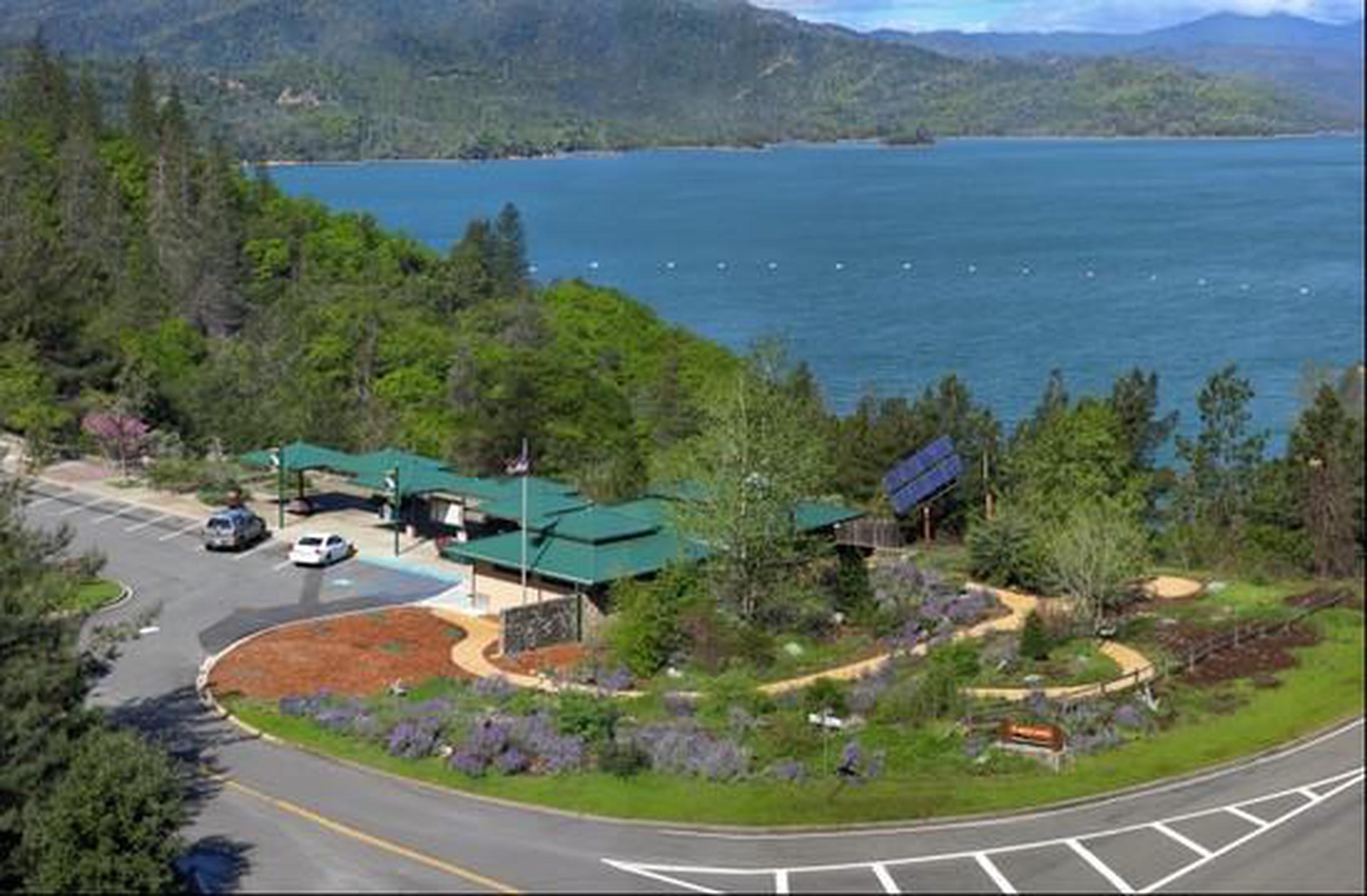 Aerial view of Whiskeytown NRA Visitors Center