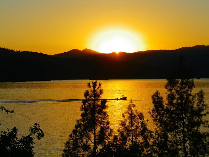 Sunset form the Whiskeytown NRA Visitors Center