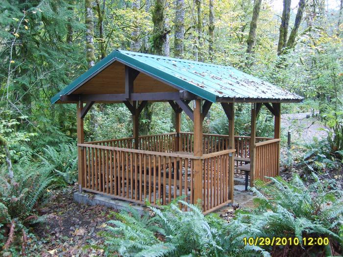 Whittaker Creek picnic gazebo