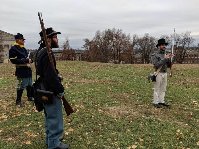 Blank Firing DemostrationPark Volunteers give a blank firing demonstration of historic firearms.