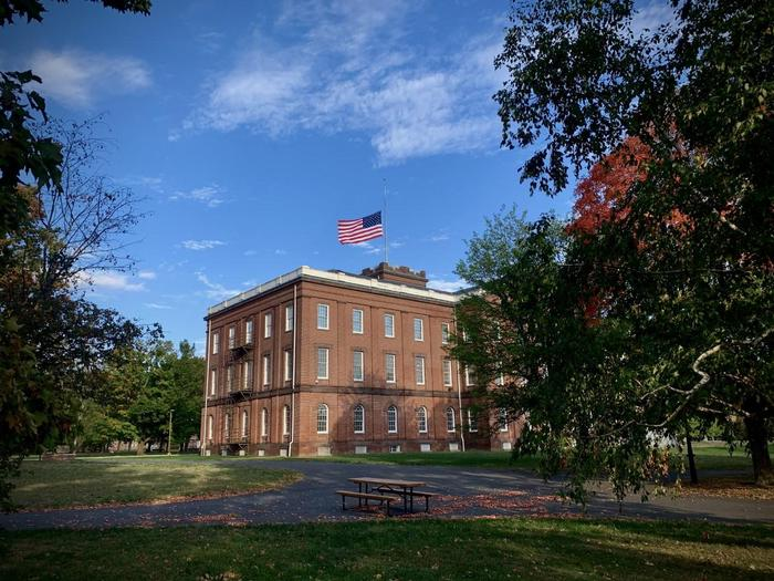 Springfield Main Arsenal on a Fall DaySpringfield Armory began the production of small arms in 1794 and continued until its close in 1968. In 1978, the Armory reopened under the direction of the National Park Service as a National Historic Site.