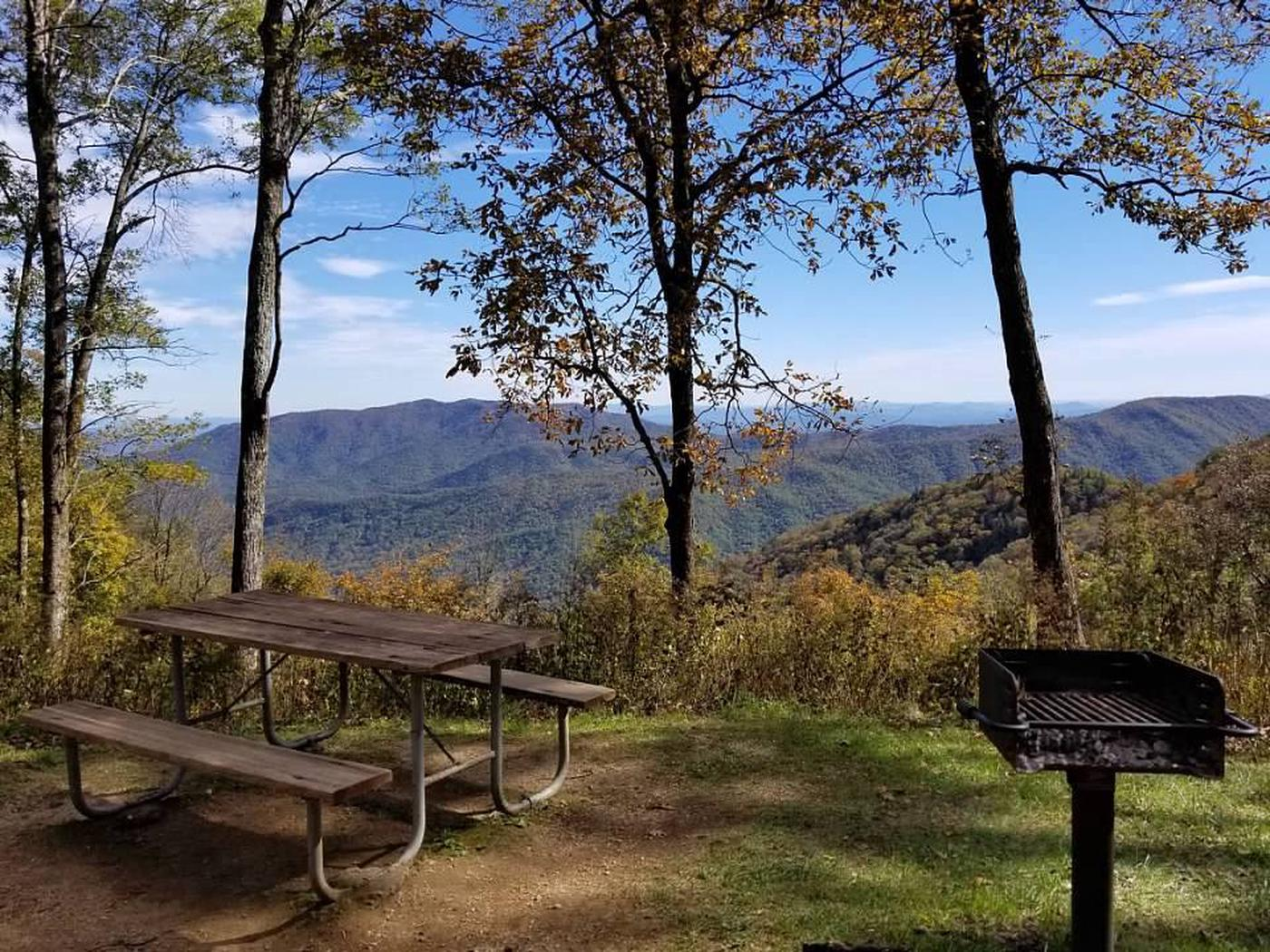 Incredible view at Crabtree Falls Picnic Area.The Crabtree Falls Picnic Area, just up from the campground, offers incredible views.