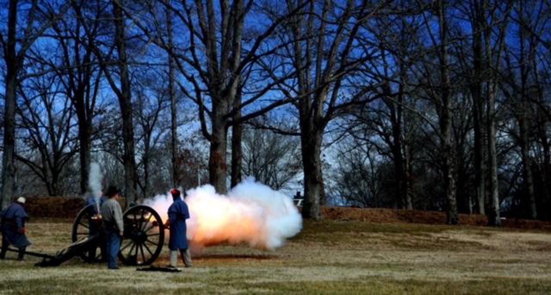 Field Artillery DemonstrationVolunteers of the 9th Kentucky Infantry Re-enactors demonstrate field artillery