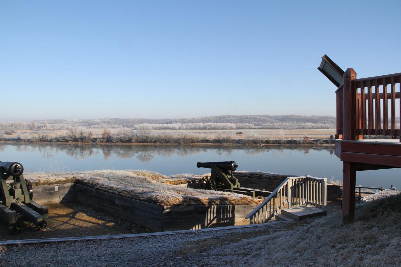 Artillery Batteries at Fort Donelson NBObservation Deck on the Cumberland River
