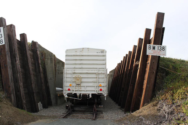 Port Chicago Naval Magazine National MemorialHistoric train car at the memorial site.
