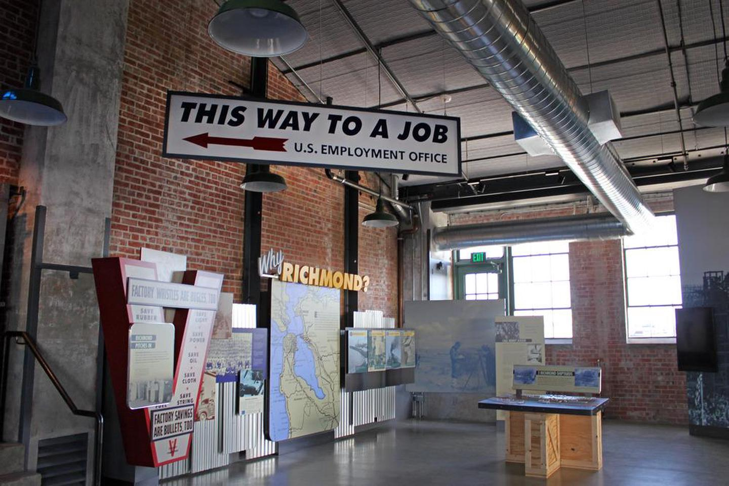 Rosie the Riveter Visitor Education CenterExhibits in the Visitor Education Center.