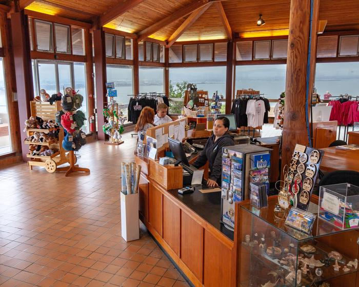 View of Bookstore inside View BuildingView of items for sale in the bookstore managed by the Cabrillo National Monument Foundation