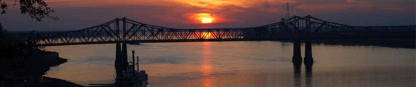 Twin bridges spanning the Mississippi River at NatchezThe Natchez Visitors Center welcomes tens of thousands of people to the Natchez region each year.