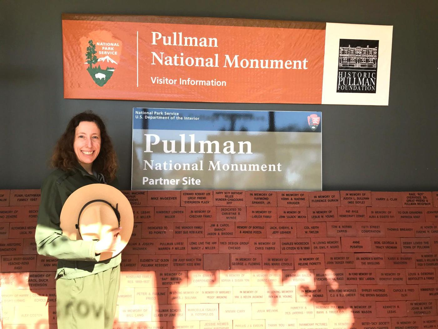 Park Ranger at Pullman National MonumentFriendly park rangers will welcome you to Pullman National Monument. This photo shows the entryway of the visitor center.