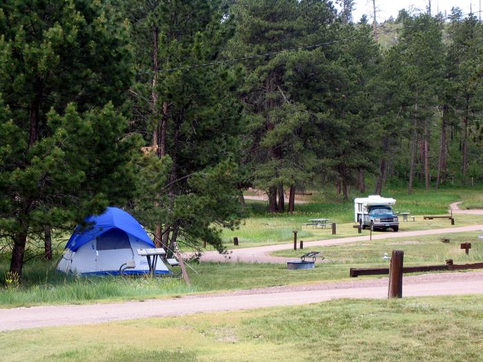Elk Mountain CampgroundThe Elk Mountain Campground at Wind Cave National Park.