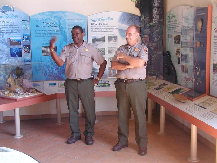 Park Rangers in the Visitor Center