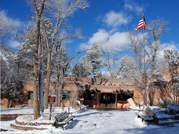 Visitor Center in Winter