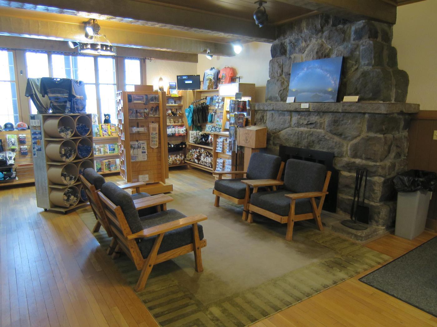 Steel Visitor Center and Park StoreThe visitor center and park store are located inside a historic building originally designed as ranger housing.