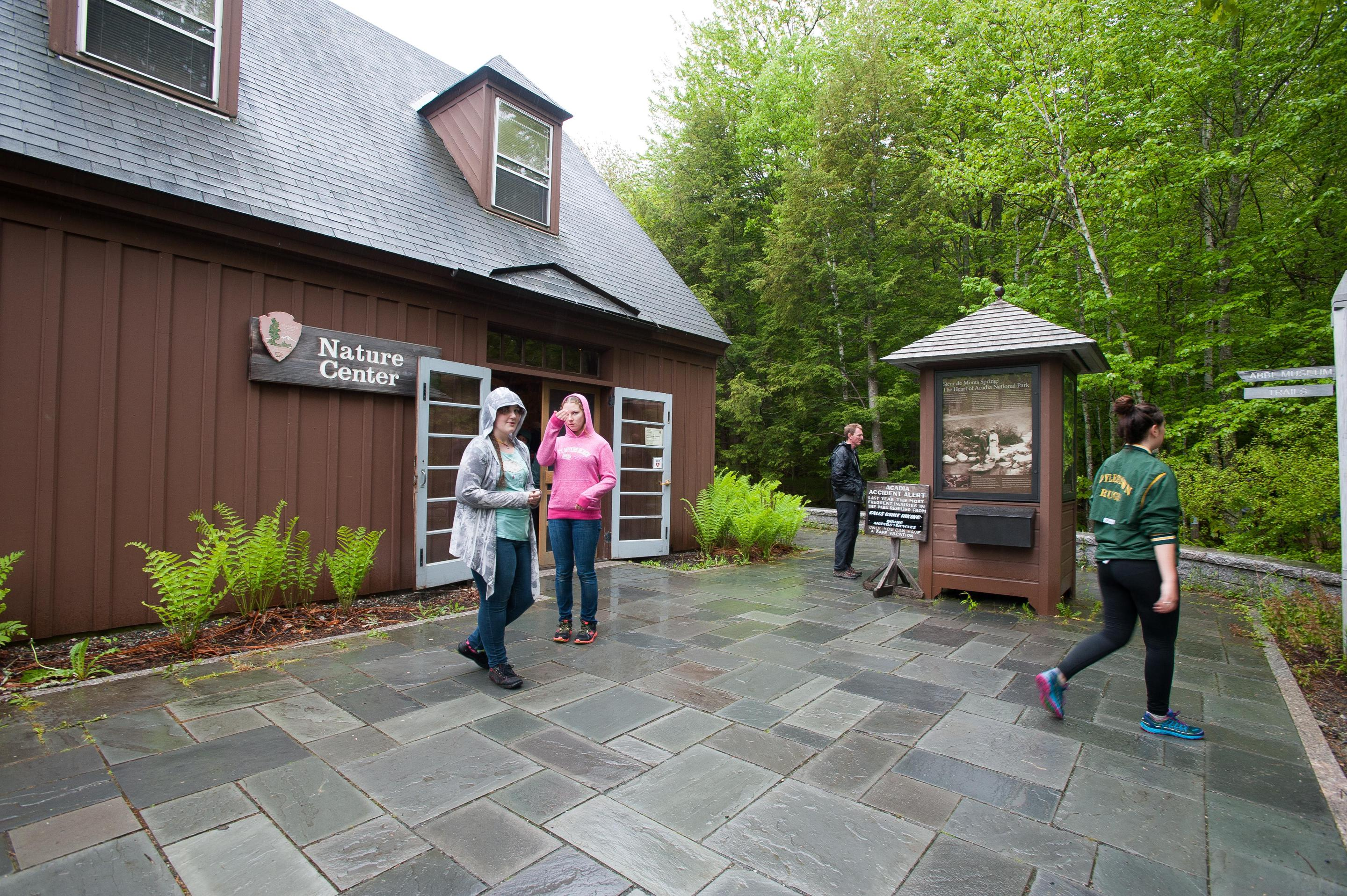 Sieur de Monts Nature CenterPark information is located inside and outside the Nature Center