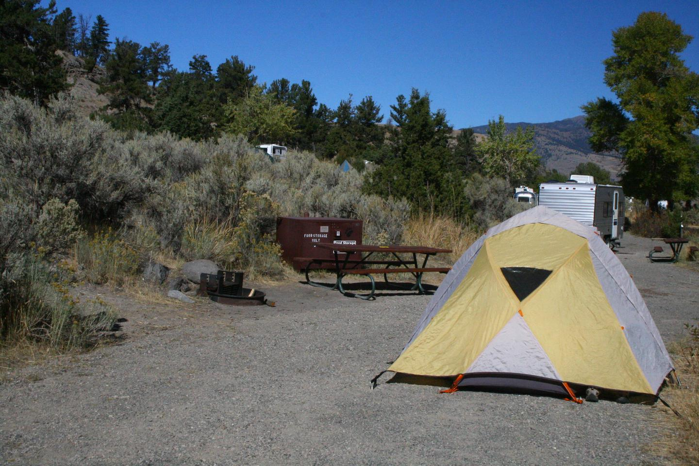 Mammoth Hot Springs Campground Site 3Mammoth Campsite #3