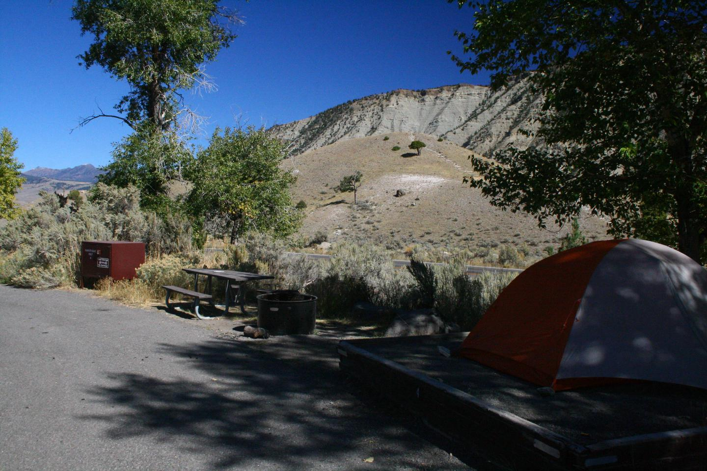 Mammoth Hot Springs Campground Site 4Mammoth Campsite #4